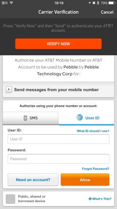 Pebbleとiphone