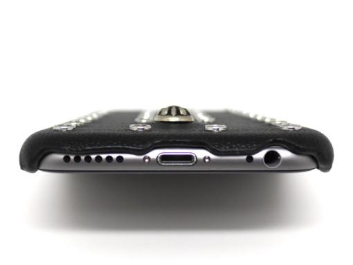 iPhone 6/6S 本革&スタッズ&メタルコンチョ TSCASEバックカバー